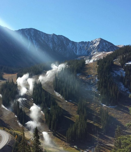 Snowmaking starts at Arapahoe Basin, end Sep 2016