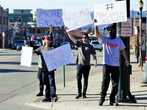 Steamboat snow protest